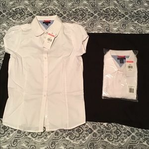 Short sleeve school uniform shirt